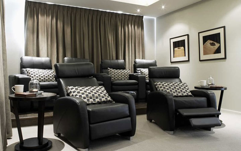Amazing Pinch Pleat Theatre Room Home Cinema Curtains