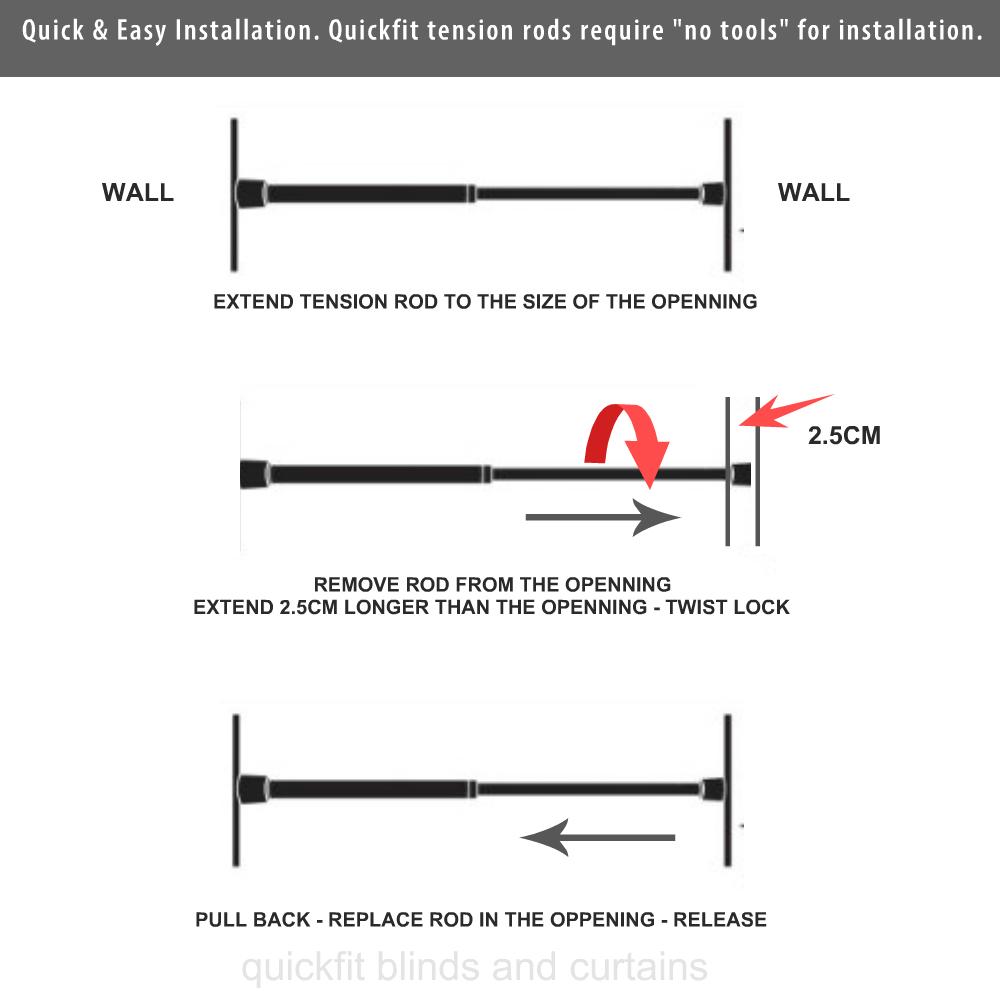 Shower Curtain Rod | Tension Rod | Shower Curtain Pole Screwless