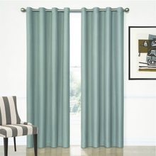 Aspen Insulated Eyelet Curtains in Teal Blue available 4 widths Quickfit Blinds and Curtains