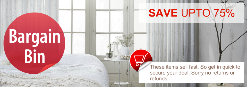 Quickfit Curtains bargain Bin Save upto 75% on clearance, over runs, end of lines, display and samples