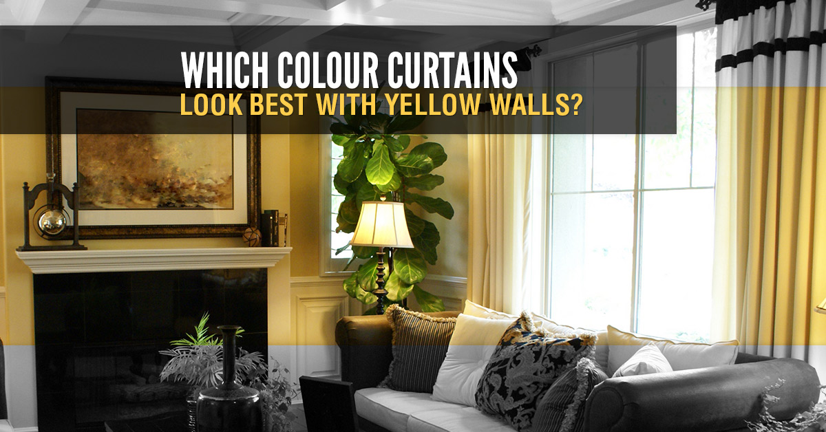 Accent Colors For Yellow Walls Glamorous Which Colour Curtains Look Best With Yellow Walls  Quickfit