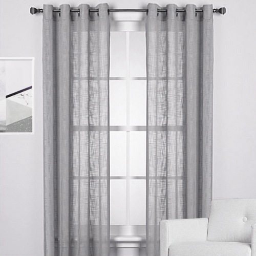 Curtains Ideas burgundy eyelet curtains : The Perfect Window Treatments To Match Black, Red, and White Walls ...