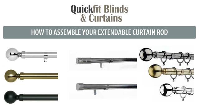 How to assemble your curtain rods