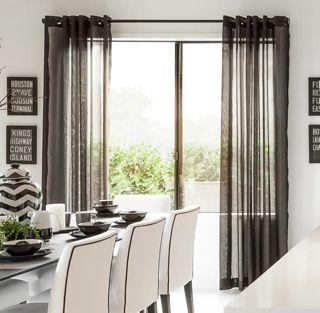 Charcoal Grey Sheer Curtains ...