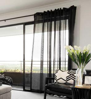 Great Charcoal Grey Sheer Curtains Black Sheer Curtains