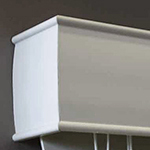 White Timber Blind Top Cover Valance
