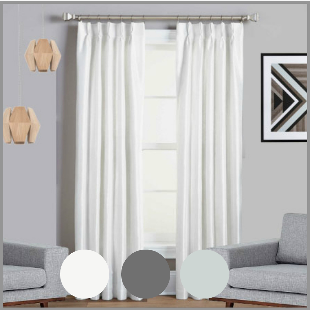 Pinch Pleated Thermal Insulated Drapes: PINCH PLEAT BLOCKOUT CURTAIN PAIR THERMAL LINED BLACKOUT DRAPE