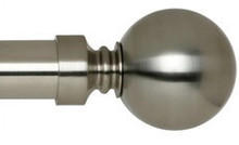 Chrome Curtain Rod End Ball Finial
