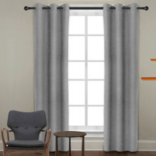 8 X Linen Look Eyelet Curtains Blockout Grey | Sold Out!