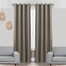 COLORADO Linen Look Thermal Weave Blackout Curtain Panel BROWN | New |  4 Sizes!