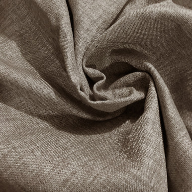 COLORADO Linen Look Thermal Weave Blackout Fabric Swatch BROWN
