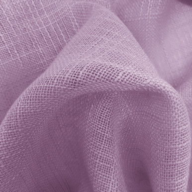 HOMESPUN Linen Look Sheer Fabric Swatch PURPLE
