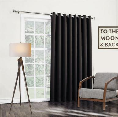 Bond black insulated eyelet curtain panels | 4 Sizes!