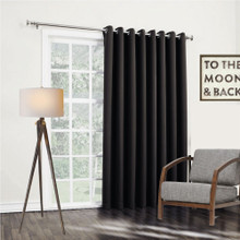 Bond black insulated eyelet curtain panels | 4 Sizes!