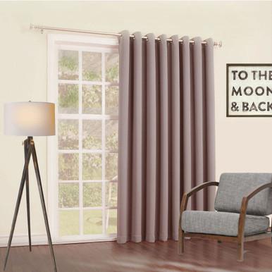 Bond soft drape energy efficient eyelet curtain panel Latte | 4 Sizes!