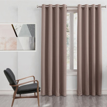 250cm Drop Latte Blockout Eyelet Curtain Panel | 2 Sizes!
