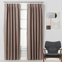 Bond 250cm Drop Pinch Pleat Room Darkening Soft Drape Curtains LATTE