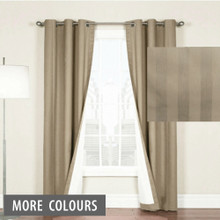 Chicago Stripe Taupe Eyelet Curtains | Sold Out!