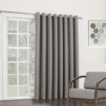 BOND Room Darkening Soft Drape Eyelet Curtain Panel GREY   New!  4 Sizes!