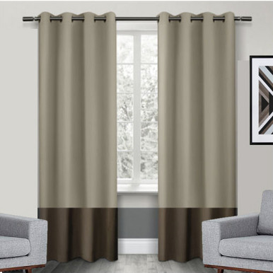 Texas Wheat And Brown Eyelet Blackout Curtain Panel Quickfit