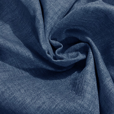 COLORADO Linen Look Thermal Weave Blackout Fabric Swatch NAVY