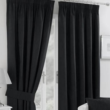 High Quality HAMPTON PENCIL PLEAT BLACK | 4 Sizes