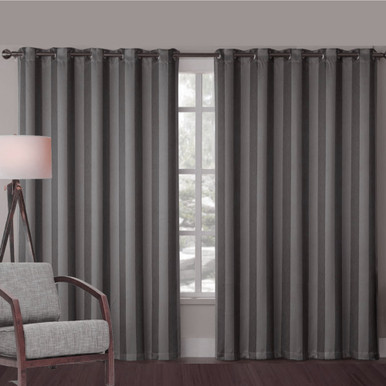 ALBERTA CHARCOAL GREY EYELET CURTAINS | Sold Out!