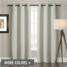 Westbury Textured Plain Ivory Eyelet Curtains Blockout | Sold Out