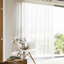 BRISTOL SHEER EYELET CURTAIN WHITE