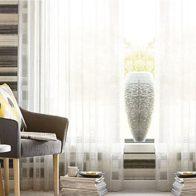 BRISTOL SHEER PINCH PLEAT CURTAINS WHITE | Designer Pick | 4 Sizes