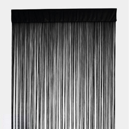 String Curtain Panel Fringe Room Divider Black