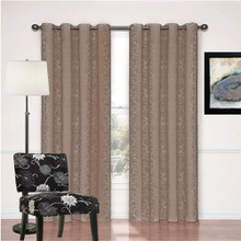Newcastle Latte Damask Eyelet Curtains  | 4 Sizes