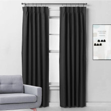Bond Pinch Pleat Thermal Curtains BLACK | 4 Sizes!