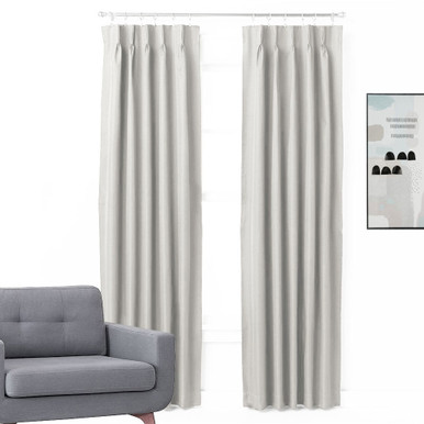 bond pinch pleat room darkening thermal curtains eggshell 4 sizes
