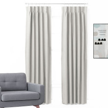 Bond Pinch Pleat Room Darkening Thermal Curtains EGGSHELL | 4 Sizes!