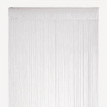 WHITE FRINGE STRING CURTAIN PANEL