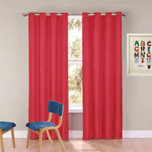 ARIZONA Kid's 100% Blockout Eyelet Curtains Red