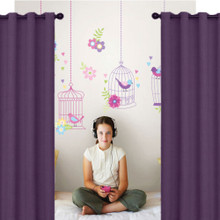 Kids ARIZONA Blockout Eyelet Curtains Purple Grape