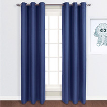 ASPEN Blockout Eyelet Curtain Panels BLUE