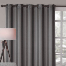 Charcoal Grey Blokout Eyelet Curtain Panel | Sold Out!