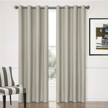 Aspen Textured Blockout Curtains Putty