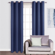 ASPEN Blockout Eyelet Curtains BLUE | Sold Out