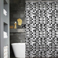 Tile Shower Curtain and hook set | Sold Out!