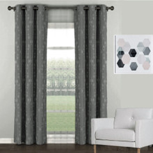 Florentino Blockout Eyelet Curtain Reverse Fabric Grey