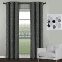 Florentino Blockout Eyelet Curtain Charcoal Grey
