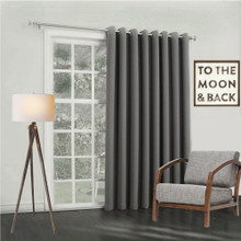 Bond Soft Drape Extra Wide Eyelet Curtain Panel Charcoal | 4 Sizes