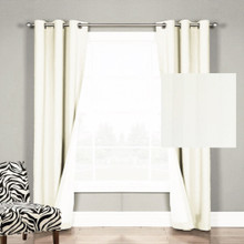 Chicago Stripe Ecu Eyelet Curtains | Sold Out!