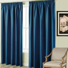Villa Blockout Pencil Curtain Navy Blue | 4 Sizes