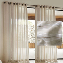 Natural Linen Look Sheer Eyelet Curtains HUSK | Sold Out!