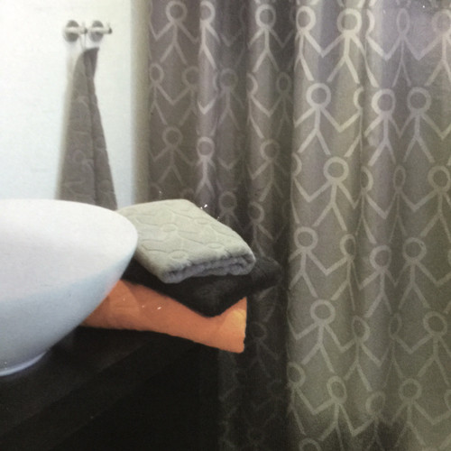 XL Charcoal Grey Shower Curtain Lead Weighted